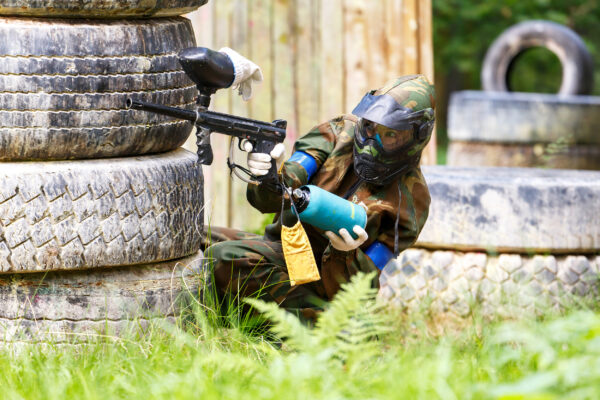 Paintball Schuss Outdoor