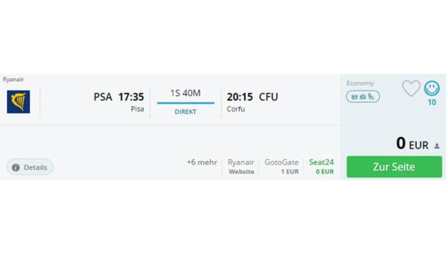 Pisa nach Korfu