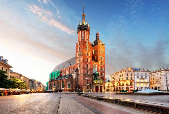 Polen Krakau Altstadt Zentrum