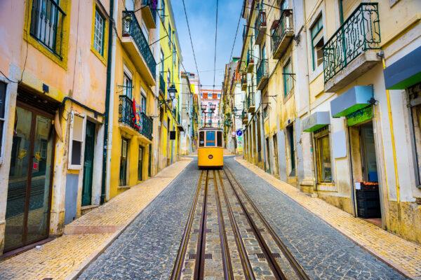 Portugal Lissabon Strassenbahn