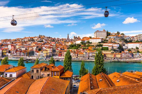 Portugal Porto Altstadt Dächer