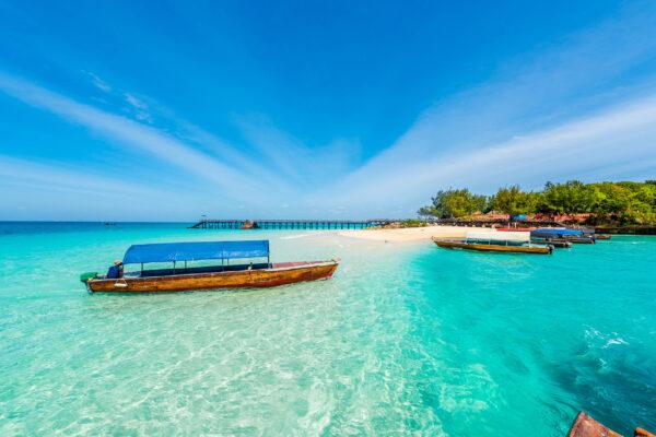 Sansibar Boote Klares Wasser