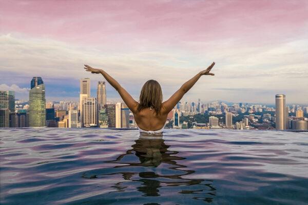 Singapur Marina Bay Infinity Pool