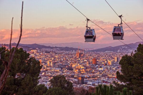 Spanien Barcelona Cable Car