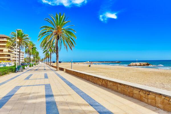 Spanien Barcelona Strand Promenade