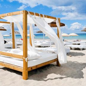 Luxus auf Ibiza: 7 Tage im TOP 5* Hotel mit All Inclusive, Flug & Zug für 592€