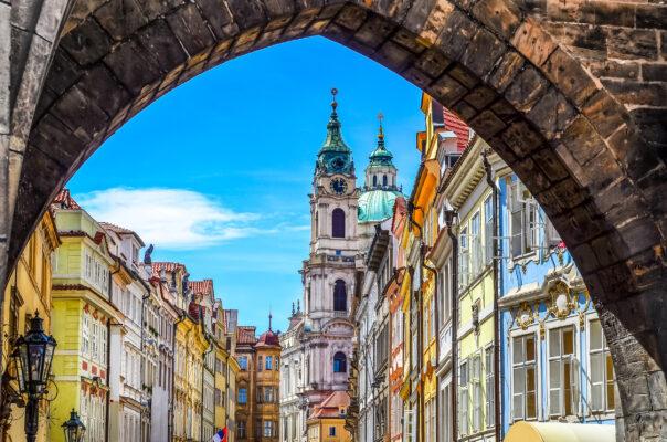 Tschechien Prag bunte Altstadt