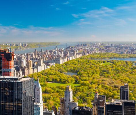 USA New York Central Park Weiter Ausblick