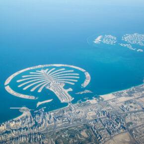 VAE Dubai Palme Küstenlinie