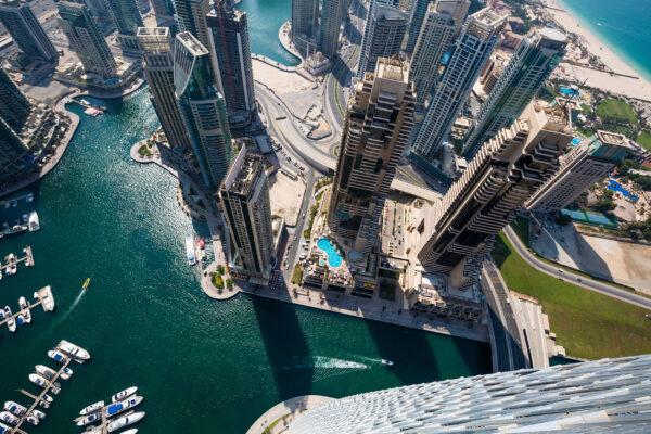 VAE Dubai Skyline von oben