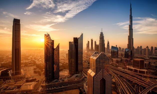 VAE Dubai Sonnenaufgang