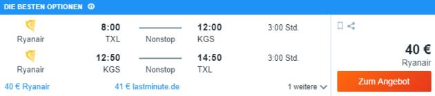 Berlin nach Kos