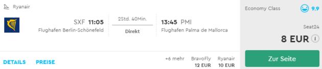 Berlin nach Mallorca