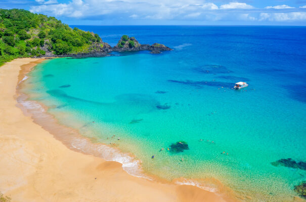 Brasilien gelber Strand