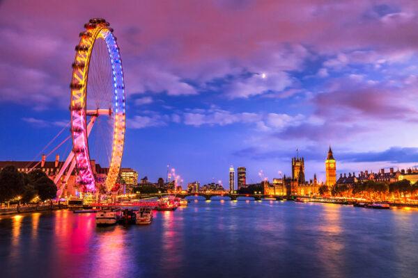 England London London Eye Nachts