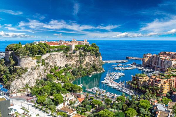 Frankreich Monaco Monte Carlo Panoramablick