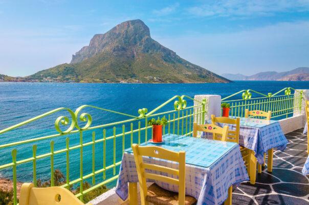 Griechenland Kos Restaurant Tische