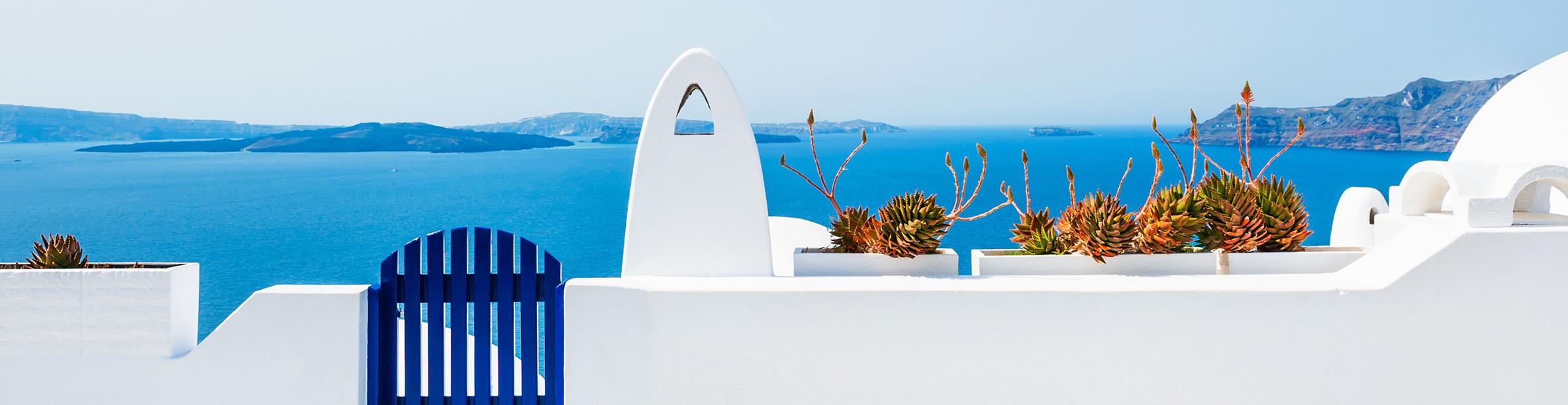 Griechenland Santorini Architektur Panorama