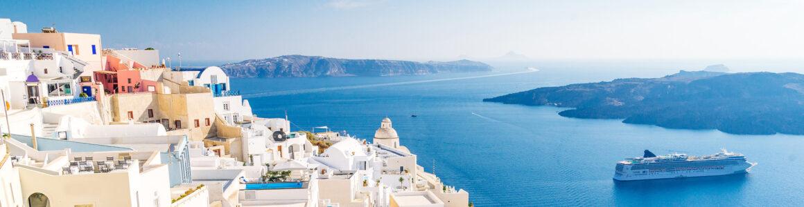 Griechenland Santorini Fira Capital Panorama