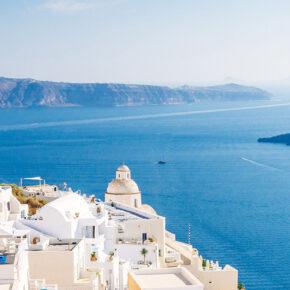 Trauminsel in weiß & blau: 8 Tage Santorini mit TOP Hotel & Flug nur 287€
