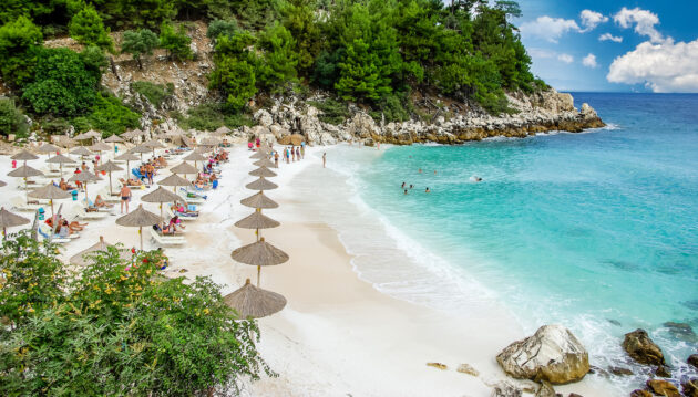 Griechenland Thassos Marble Beach