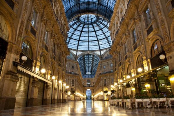 italien Mailand Galleria Vittorio Emanuele Abends