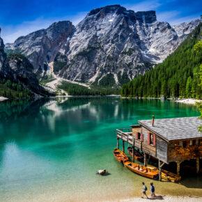 Italien Südtirol Braies See Alpen