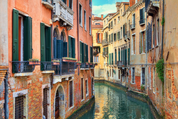 italien Venedig Enger Kanal