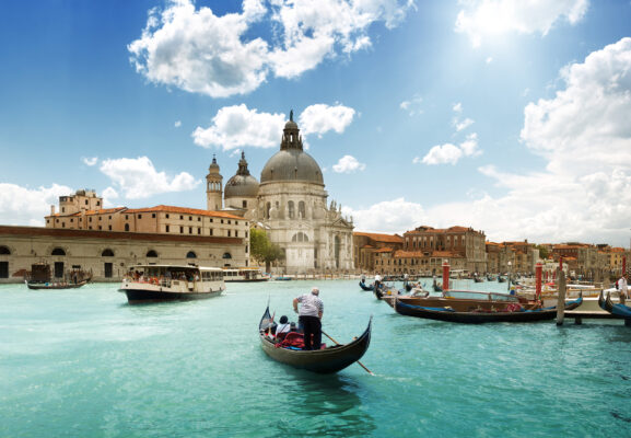 Italien Venedig Gran Canal Basilica Santa Maria