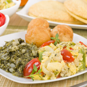 Jamaika ackee and saltfish