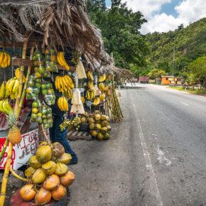 Jamaika Straße Obststand