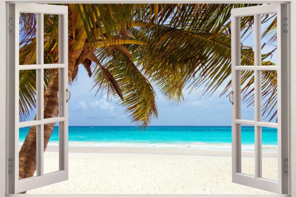 Jamaika Strand Ausblick Fenster
