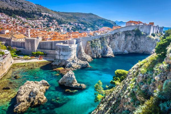 Kroatien Dubrovnik Altstadt Luftbild