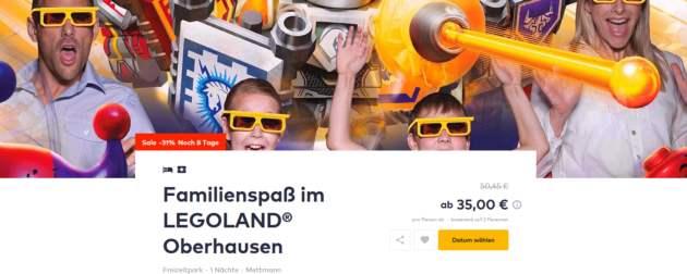 Legoland Oberhausen Angebot