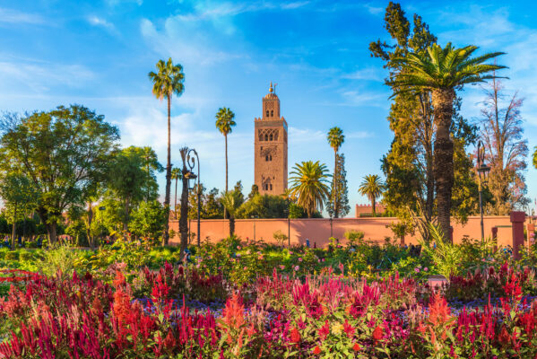 Marokko Marrakesh Koutoubia Moschee