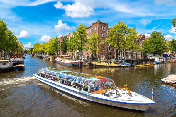 Niederlande Amsterdam Kanäle Boot