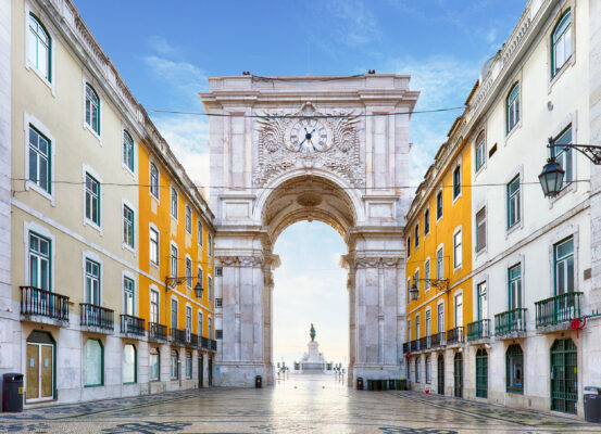 Portugal Lissabon Praca do Comercio