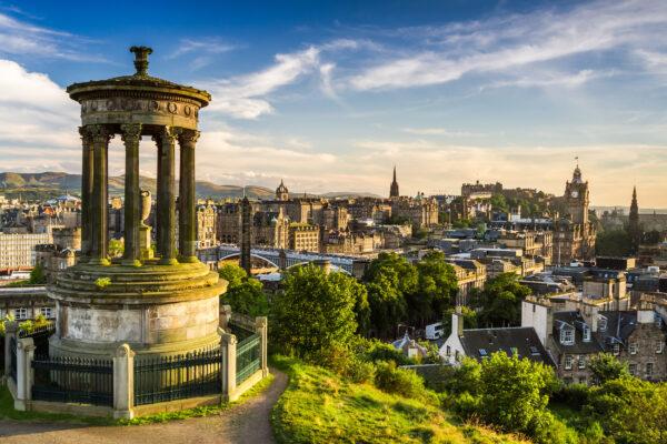 Schottland Edinburgh Cityview Grün