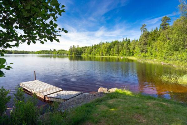 Schweden Landschaft Fluss