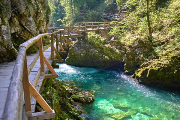 Slowenien Bled Vintgar Gorge Steg