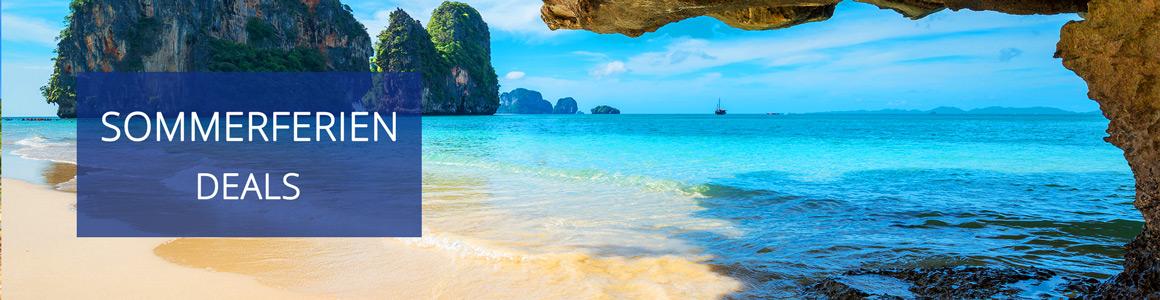 Sommerferien: Günstige Pauschalreisen für Paare & Familien ab 92€