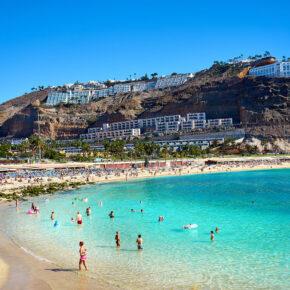Gran Canaria Kracher: 7 Tage im TOP 4* Hotel mit Halbpension, Flug, Transfer & Zug nur 260€