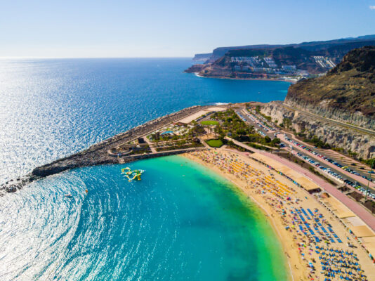 Spanien Gran Canaria Playa de Amadores Klippe