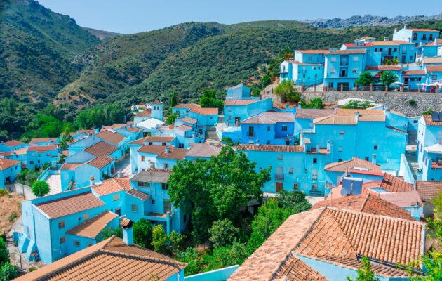 Spanien Juzcar Dorf