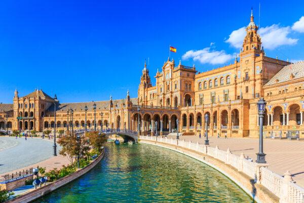 Spanien Sevilla Plaza Espana