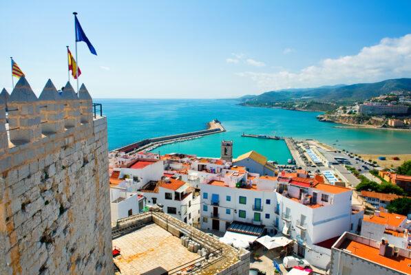Spanien Valencia Peniscola Port View