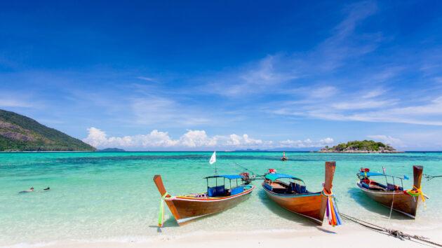 Thailand Koh Lipe Boote Strand