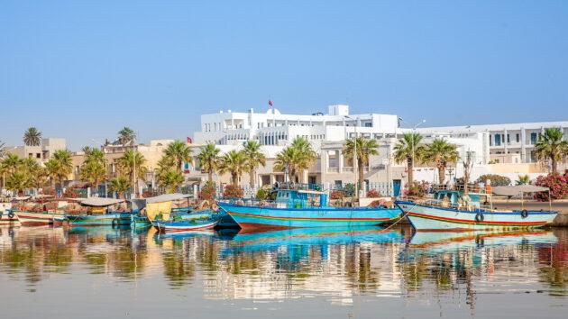 Tunesien Holzboote Hammamet