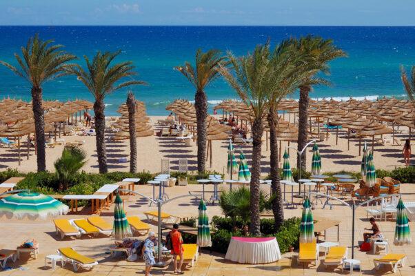 Tunesien Strand Palmen