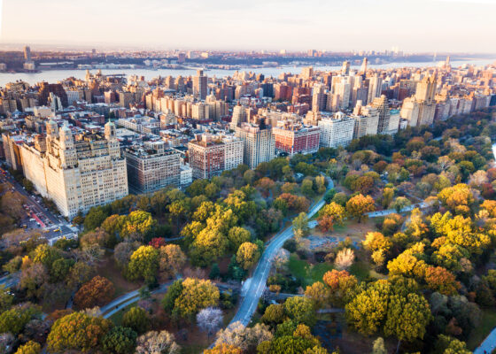 USA New York Central Park Hebst Luftbild
